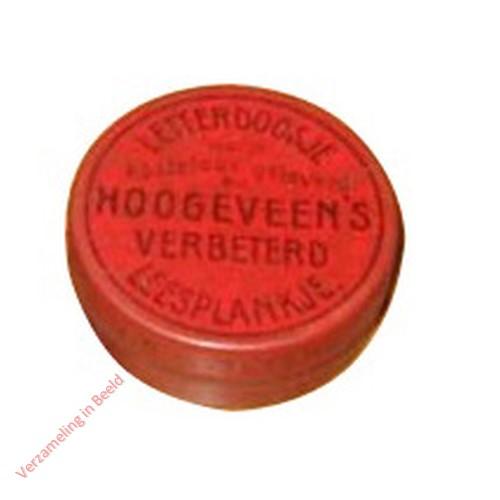 1910-1915. Letterdoosje [Klein, rood blik, plat; Groningen]
