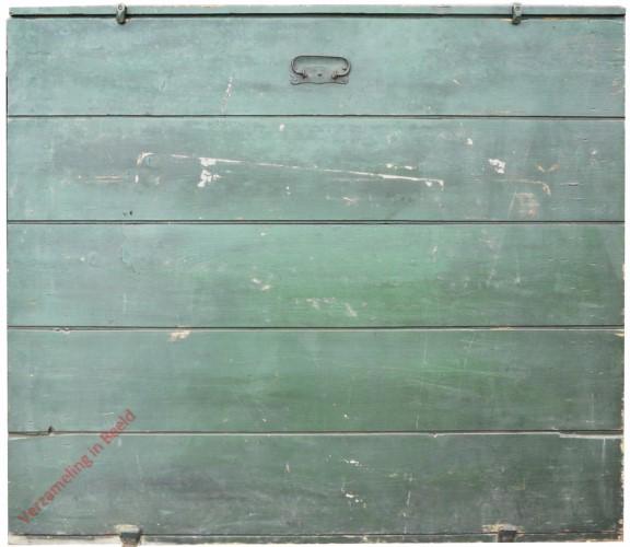 1910-1916. Bewaar- dan wel vervoerkist voor klassikale leesplank