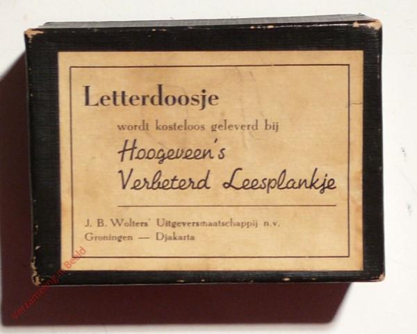 1950-1955. Letterdoosje [Zwart karton; Groningen, Djakarta]