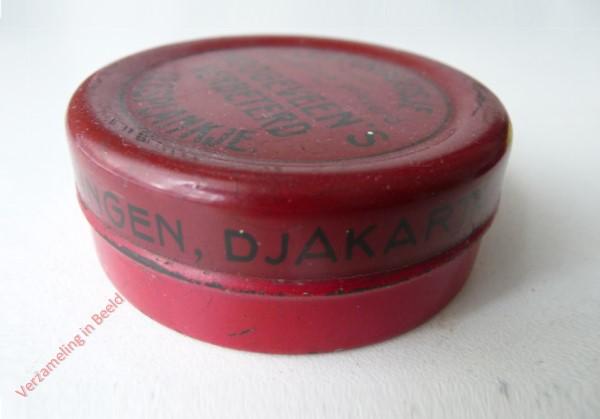 1950-1955. Letterdoosje [Klein, rood blik; Groningen, Djakarta]