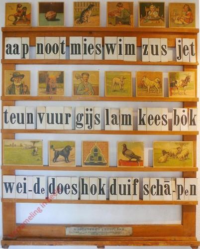1940-1949. aap noot mies, Hoogeveen's klassikale leesplank [Houtkleur; Groningen, Batavia]
