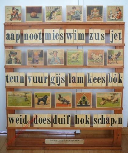 1950-1955. aap noot mies, Hoogeveen's klassikale leesplank [Houtkleur; Groningen, Djakarta]