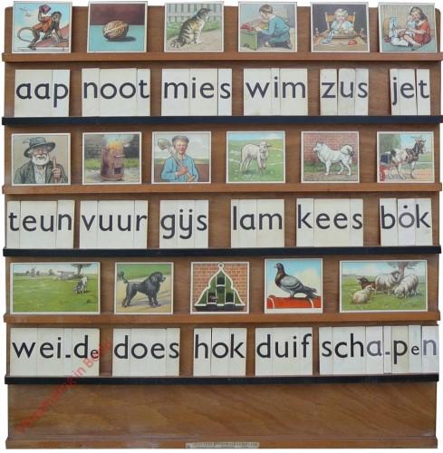 1961-1966. aap noot mies, Hoogeveen's klassikale leesplank [Zwarte latten, Groningen]