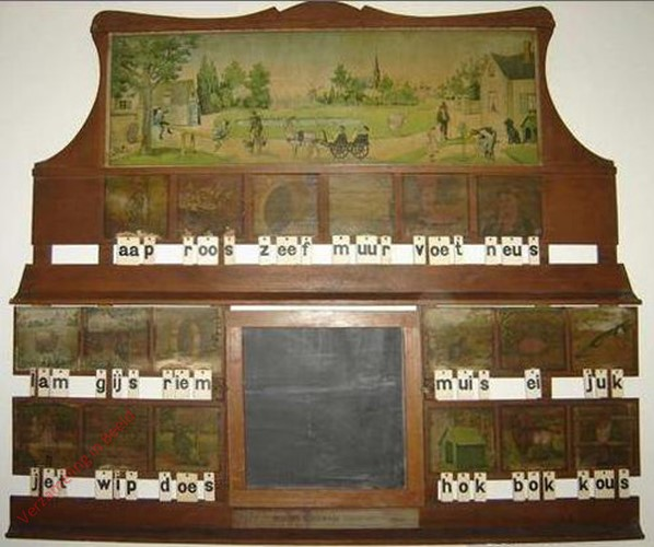 1905/1910. aap roos zeef, Becker's klassikaal leesbord [variant 2 houten rand]