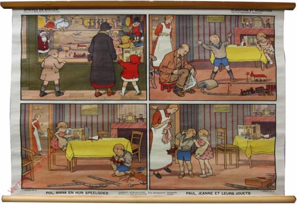 1e serie, No 2 - Pol, Anna en hun speelgoed. Paul, Jeanne et leurs jouets