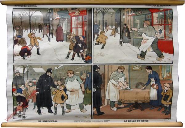 1e serie, No 4 - De sneeuwbal. La boulle de neige
