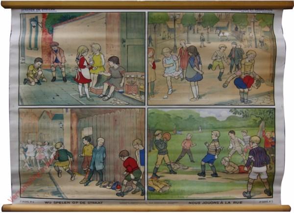 2e serie, No 3 - Wij spelen op straat. Nous jouons a la rue