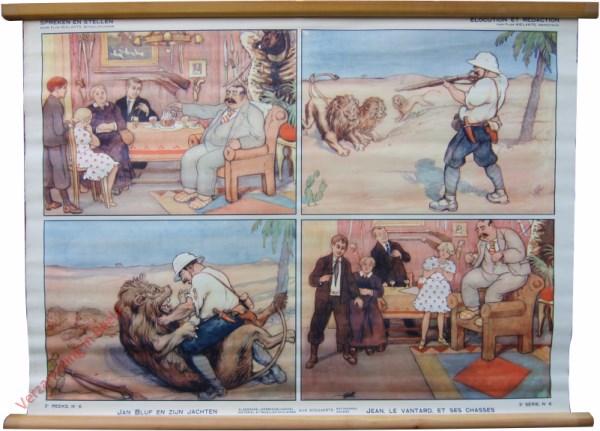 3e serie, No 6 - Jan Bluf en zijn jachten. Jean, le Ventard, et ses chasses