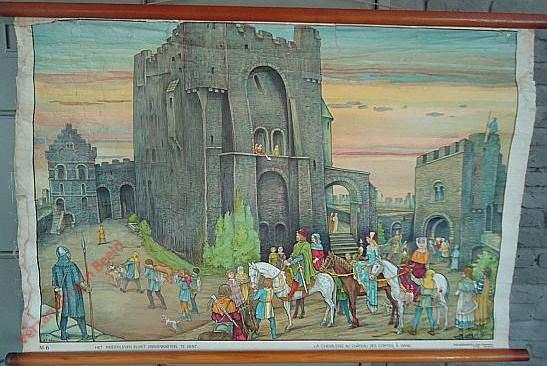 5 - Het ridderleven in het Gravenkasteel te Gent. La chevalerie au Château des Comtes à Gand
