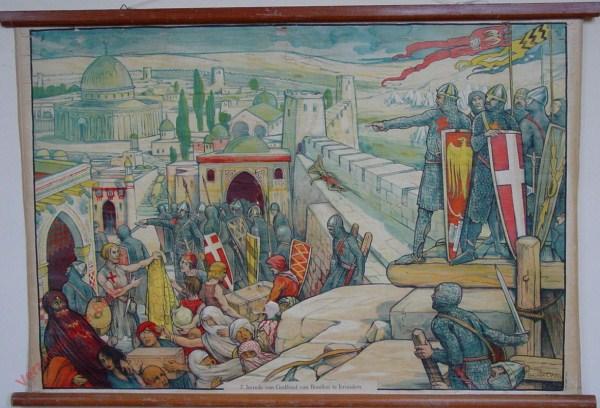 7 - Intrede van Godfried van Bouillon te Jeruzalem