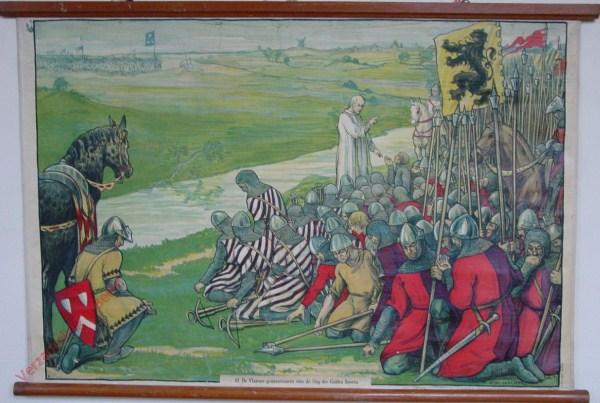 10 - De Vlaamsche gemeentenaren vóór den Slag der Gulden Sporen