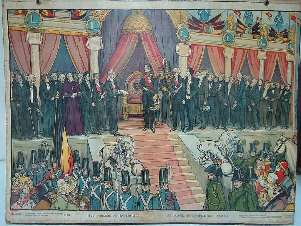 14 - De Septemberdagen van 1830 - Leopold I. Les Journée de Septembre 1830 - Leopold I
