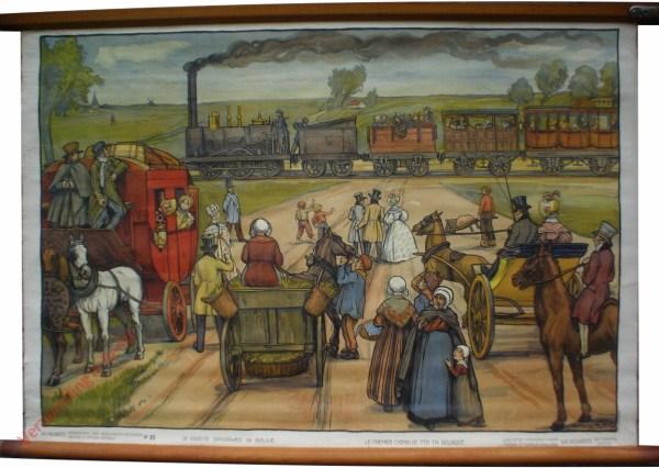 15 - De eerste spoorweg in België. Le premier chemin de fer en Belgique