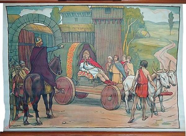 24 - Hofmeiers en vadsige koningen. Les maires de palais et les Rois Fainéants