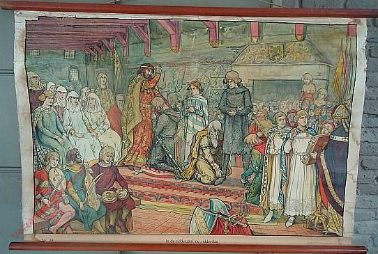29 - In de ridderzaal, de ridderslag