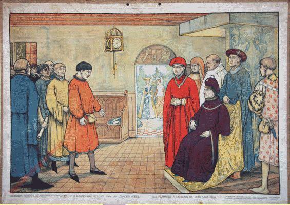 37 - De Vlamingen aan het hof van Jan zonder Vrees. Les Flamands à la cour de Jean Sans Peur
