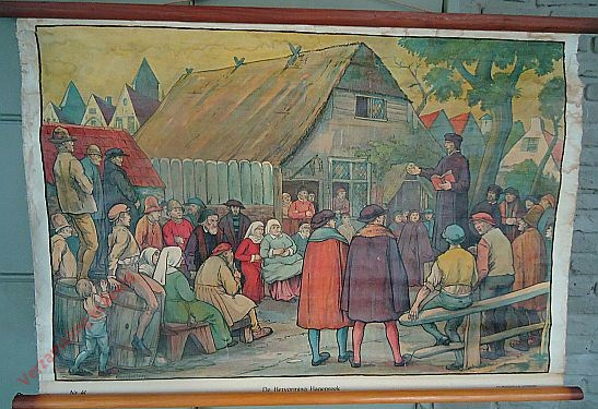 41 - De hervorming – een hagepreek. La Réforme - Un prêche en plein air