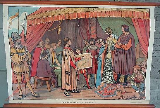 43 - Christoffel Columbus aan het Spaansche hof