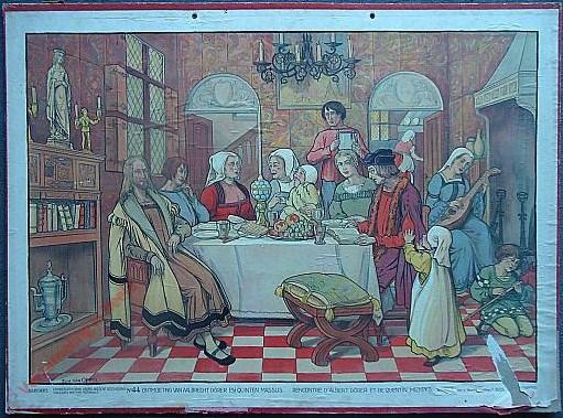 44 - Ontmoeting van Aalbrecht en Quinten Massijs. Rencontre d'Albert Dürer et de Quentin Metsys