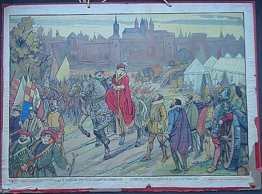 49 - De prinses van Epinoy bij de overgave van Doornik (1581)
