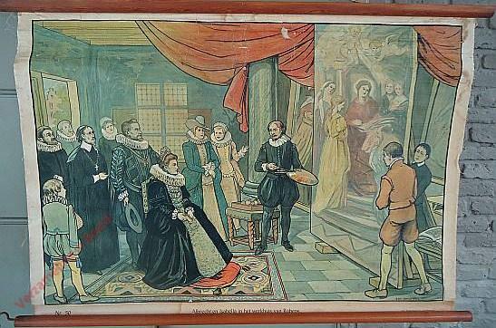 50 - Albert en Isabella in het werkhuis van Rubens. Albert et Isabelle visitent l'atelier de Rubens