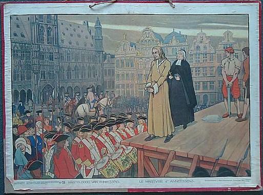 51 - Marteldood van Anneessens. Le martyre d'Annessens
