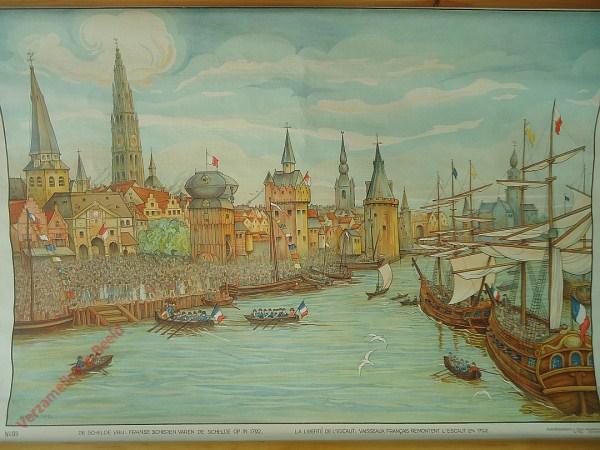 55 - De Schelde vrij: Franse schepen varen de Schelde op in 1792