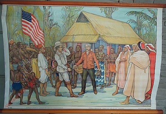 62 - Stanley ontmoet Livingstone aan het Tanganikameer