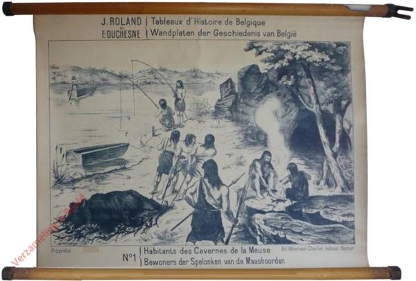 1 - Habitans des Cavernes de la Meuse. Bewoners der spelonken van de Maasborden