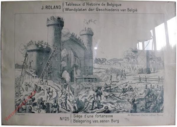 25 - Siege d'une forteress - Belegering van eenen Burg