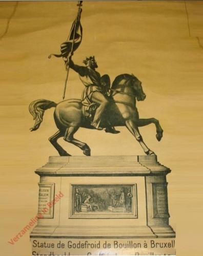 28 - Statue de Goidefroid de Bouillon à Bruxelles - Standbeeld van Godfried van Bouillon te Brussel