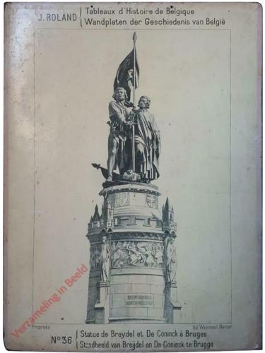36 - Statue de Breydel et De Conick a Bruges - Standbeeld van Breijdel en De Coninck te brugge