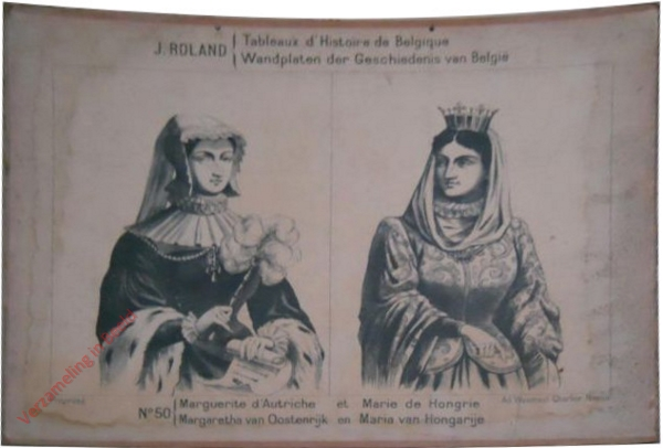 50 - Marguerite d'Austriche et Marie de Hongrie - Margarethe van Oostenrijk en Maria van Hongarije