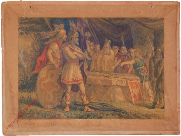 2 - De eerste Belgen - Ambiorix en Indutiomar.  Les premiers Belges - Ambiorix et Indueiomar