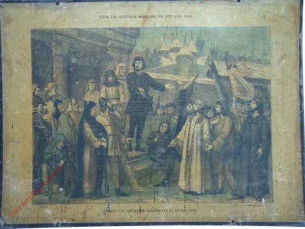10 - Jacob van Artevelde sprekende tot het volk (1340). Jacques van Artevelde de harangeant le peuple (1340)