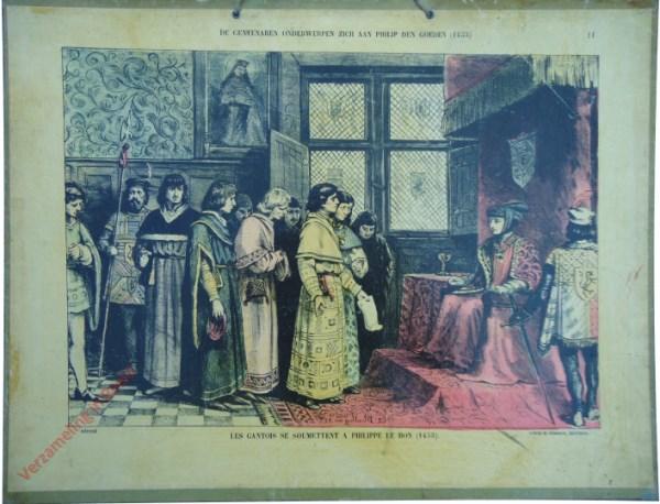 11 - De Gentenaren onderwerpen zich aan Philip den goeden (1453). Les Gantois se soumettent a Philippe le Bon (1453)