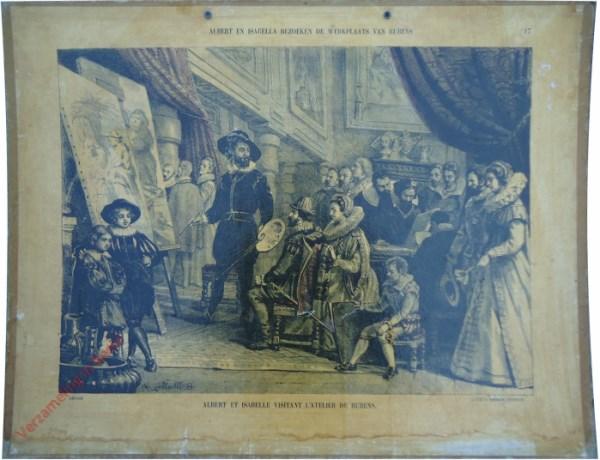 17 - Albert en Isabella bezoeken de werkplaats van Rubens. Albert et Isabelle visitant l'aterlier de Rubens