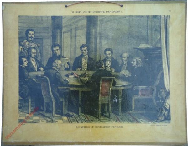 22 - De leden van het voorloopig gouvernement. Les membres de gouvernement provisoire
