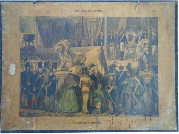 23 - Inhuldiging van Leopold I. Inauguration de Léopold I