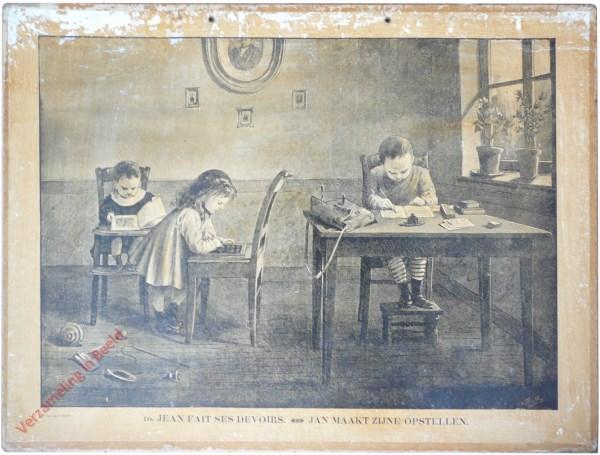 10 [9 oud] - Jean fait ses devoirs. Jan maakt zijne opstellen