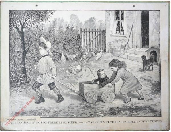 11 [10 oud] - Jean joue avec son frère et sa soeur. Jan speelt met zijne broer en zijnen zuster