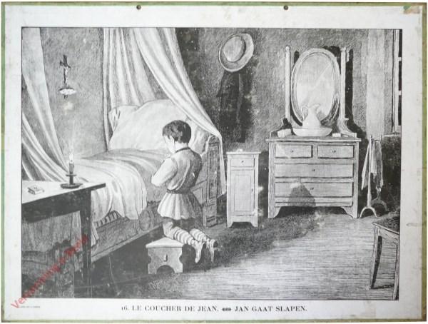 16 [14 oud] - Le coucher de Jean. Jan gaat slapen