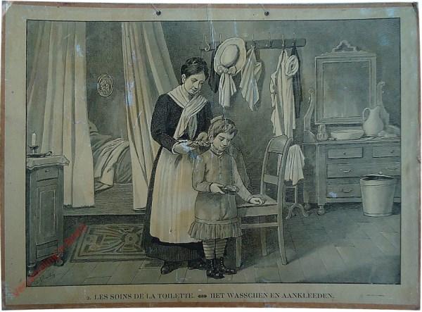 2 - Les soins de la toilette. Het wasschen en aankleeden
