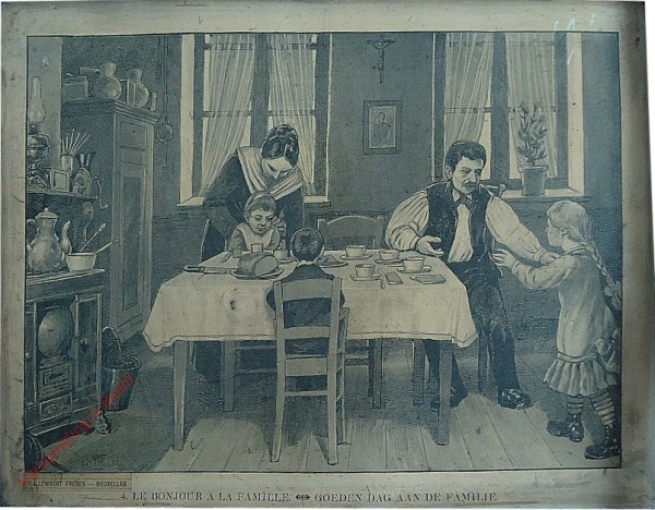 4 - Le bonjour a la famille. Goeden dag aan de familie