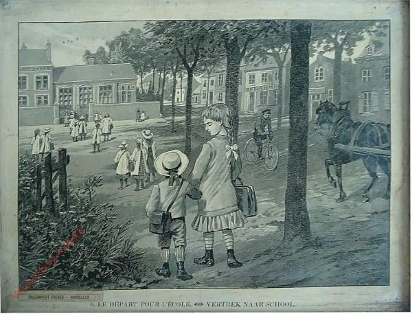 6 - Le départ pour l'école. Vertrek naar school