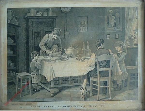9 - Le repas en famille. Het eetmaal der familie