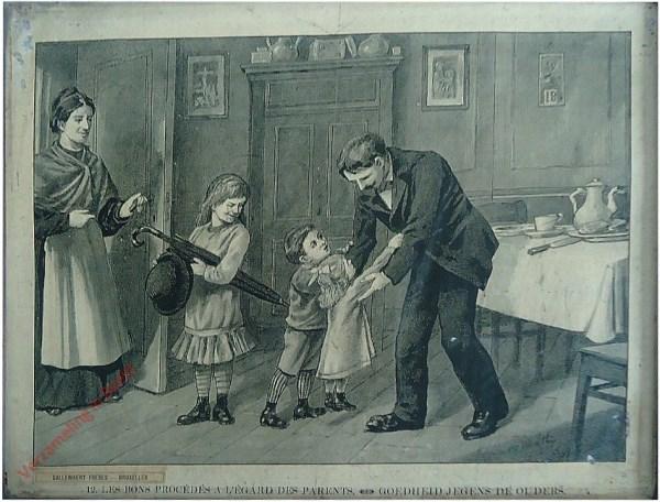 12 - Les bons procédés a l'égard des parents. Goedheid jegens de ouders