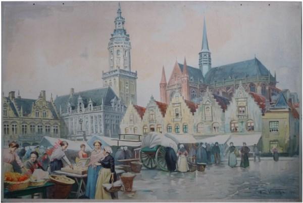 A marché a Veurne. De markt van Veurne [Furnes]