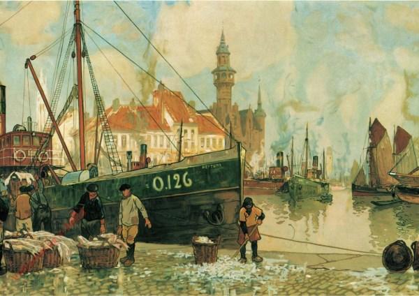 Le Port de pêche d'Ostende. De haven van Oostende