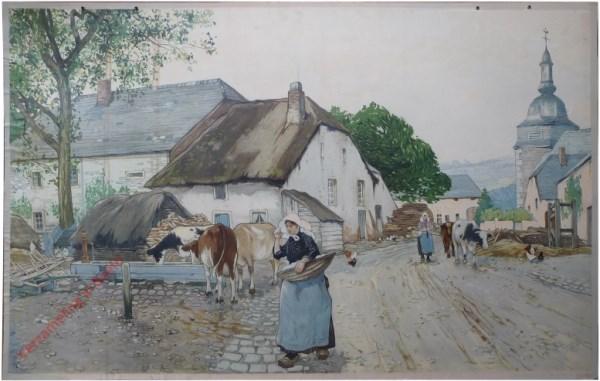 Le village Ardennais. Het Dorp in Arndennen